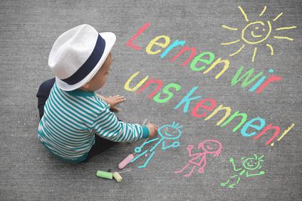 Kinderzeichnung - Lernen wir uns kennen!